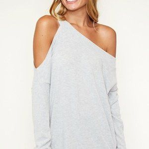 Fantastic Fawn Off-White One Shoulder Sweater Sz M